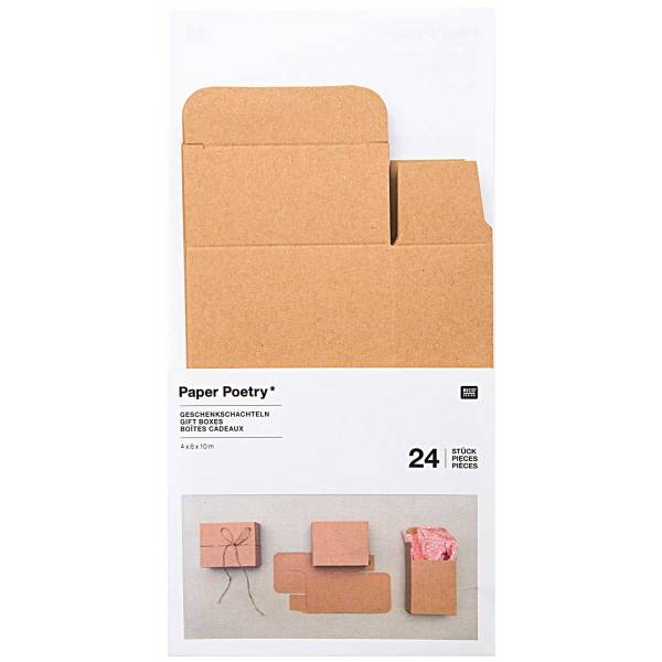 Adventskalenderboxen aus Kraftkarton 24 Stück 4 x 8 x 10 cm
