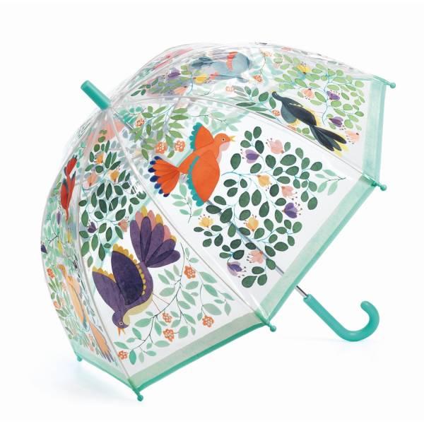 Regenschirm Blumen und Vögel