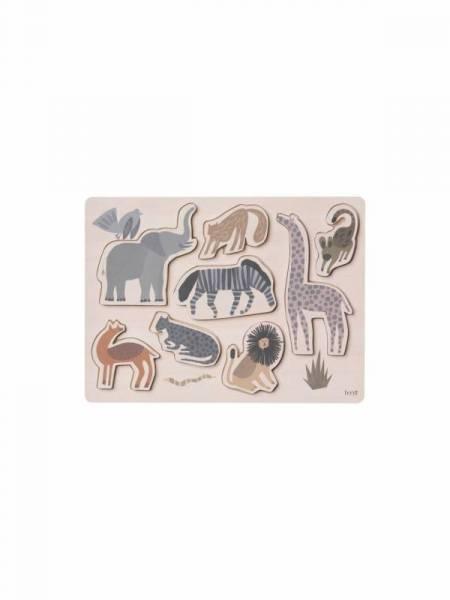 Safari Puzzle aus Holz