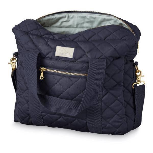 Wickeltasche mit langem Reißverschluss Navy