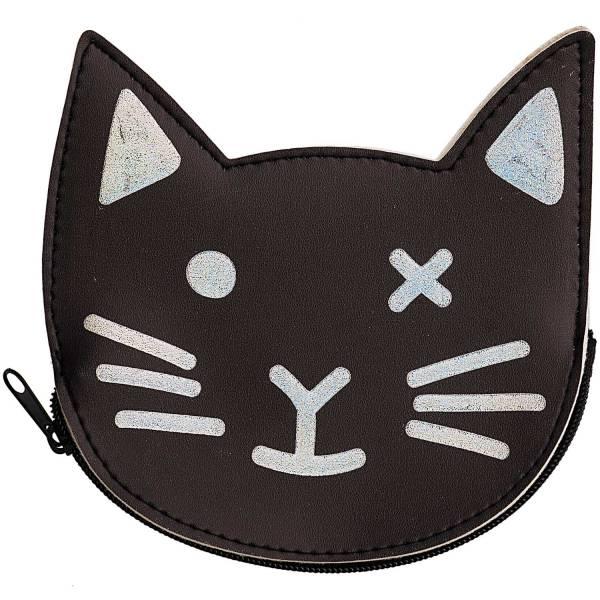 Geldbeutel Katze schwarz