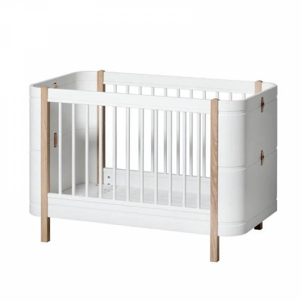 Babybett Mini+ basic weiss/Eiche