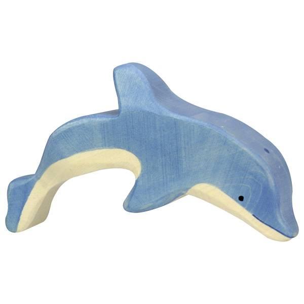 Delfin springend Holzfigur