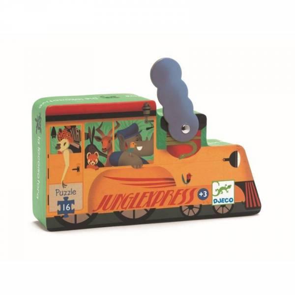 Silhouette Mini Puzzle - Lokomotive - 16 Teile