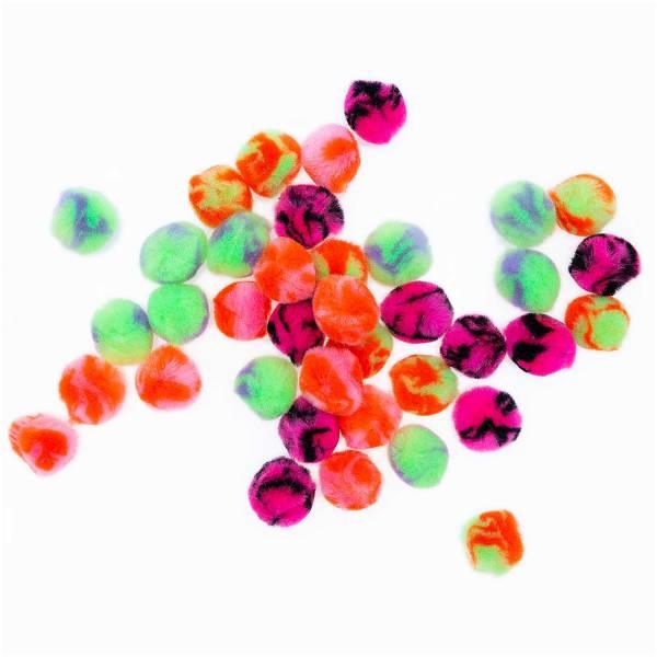 Pompons Acid Leo 25mm 40St Neon-Pastell