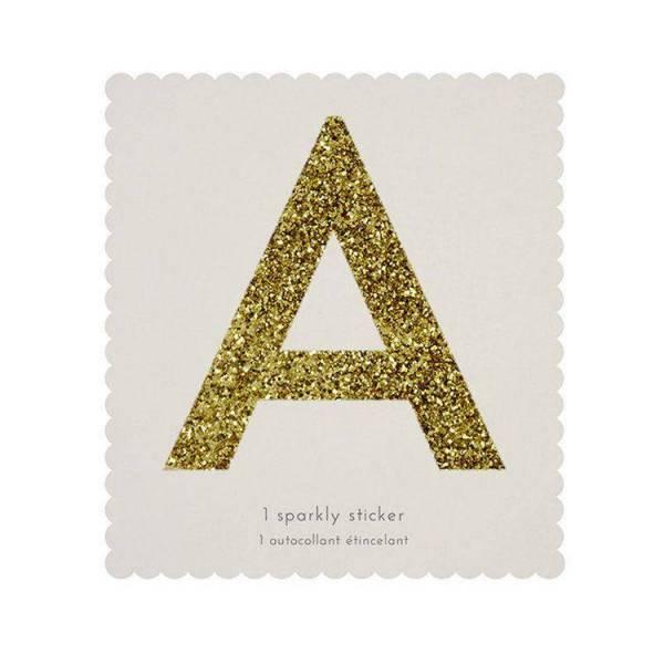 Glitter Alphabet Sticker - H 10 cm