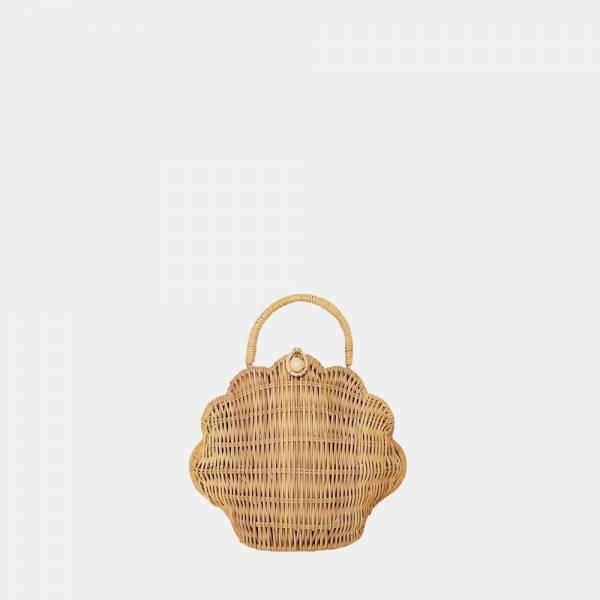 Korbtasche Shell aus Rattan Straw
