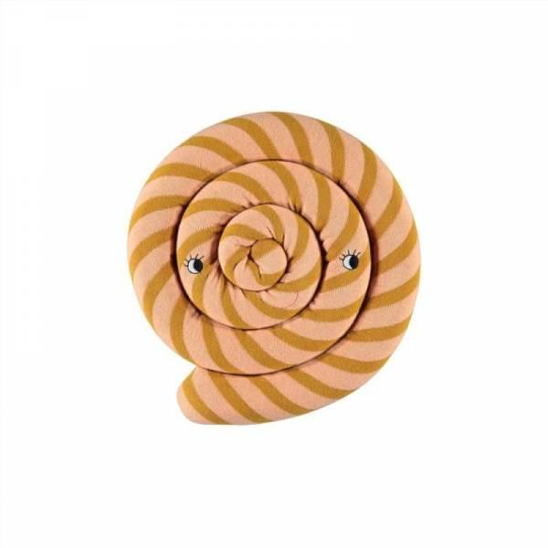 Lollipop Strickkissen Ø 30 cm - karamell