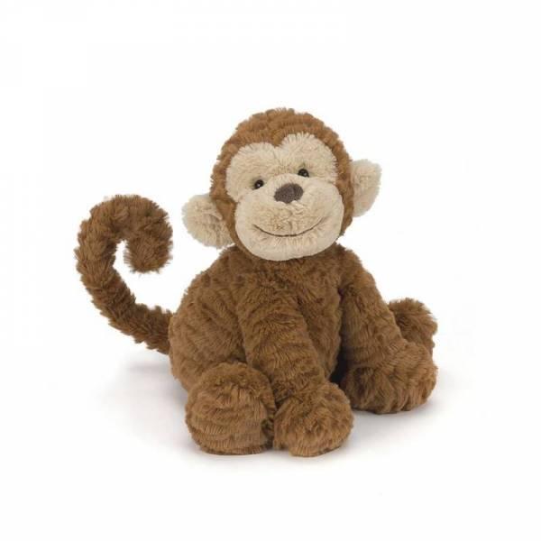 Stofftier Affe Fuddlewuddle Monkey medium - H23cm - braun