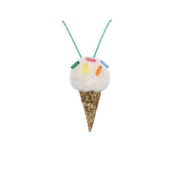 Halskette Pompom Eis - Ice Cream Pompom Necklace