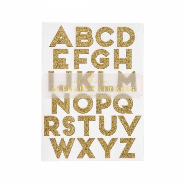 Gold Glitter Alphabet Sticker