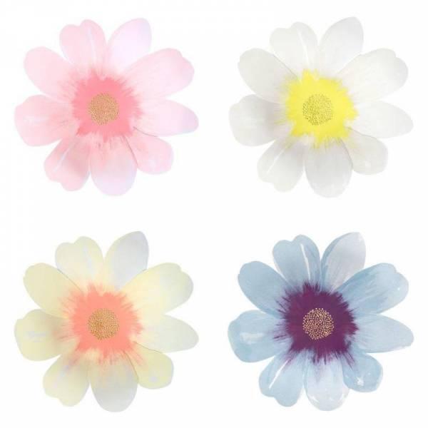 Pappteller - groß - Blumen