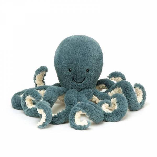 Stofftier Krake Storm Octopus Little - blau - 23cm