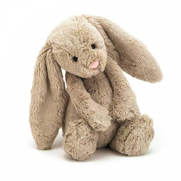 Stofftier Hase Bashful Bunny Small - H18cm - beige