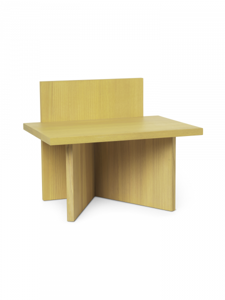 Hocker - Oblique Stool - Yellow Stained Ash