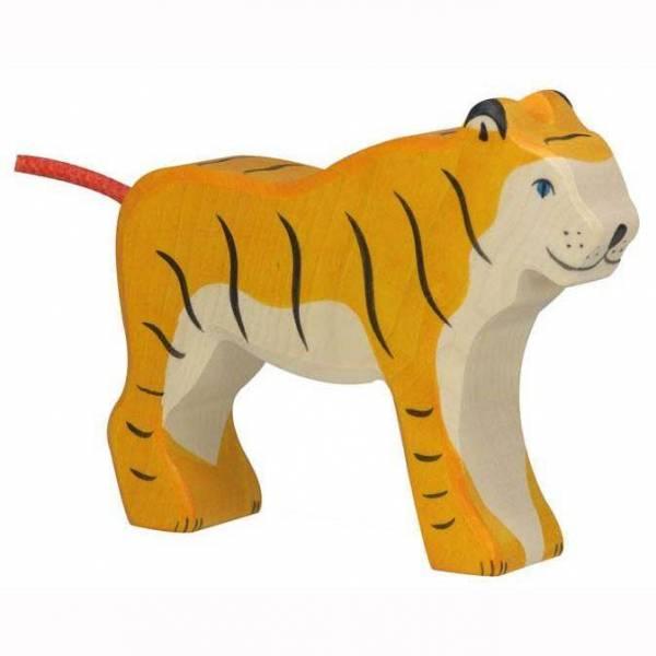 Tiger stehend Holzfigur