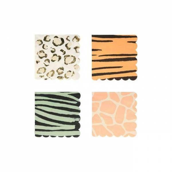 Safari Servietten klein 12,7 x 12,7 cm