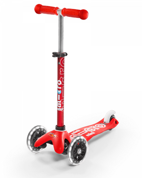 mini micro deluxe LED rot Roller Scooter