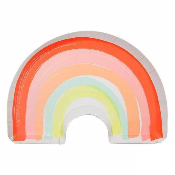 Rainbow Pappteller
