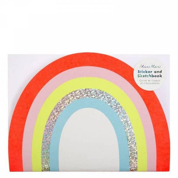 Malbuch Regenbogen mit Sticker