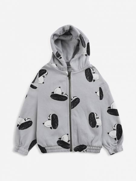 Zipped Hoodie Doggie All Over