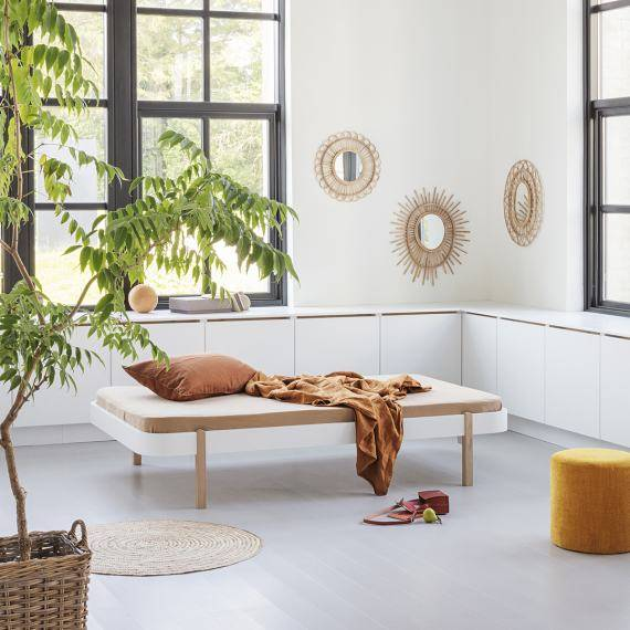Wood Matratze mit runden Ecken für Lounger 120x200cm