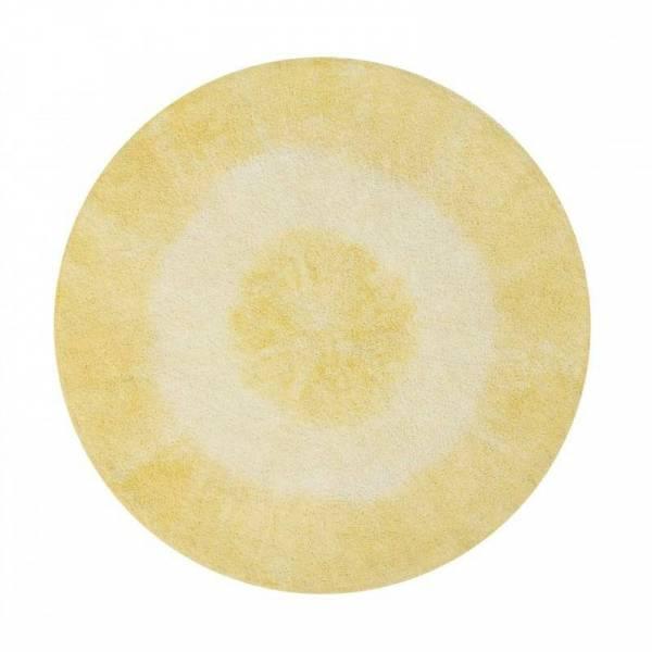Teppich Tie-Dye Yellow Ø150cm