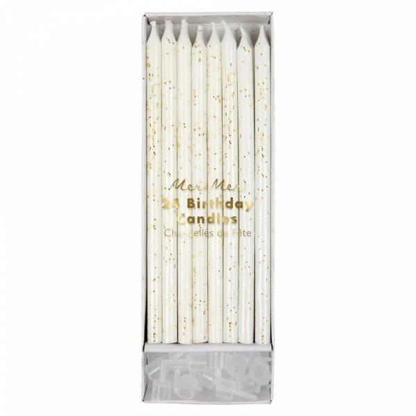 Gold Glitter Kerzen