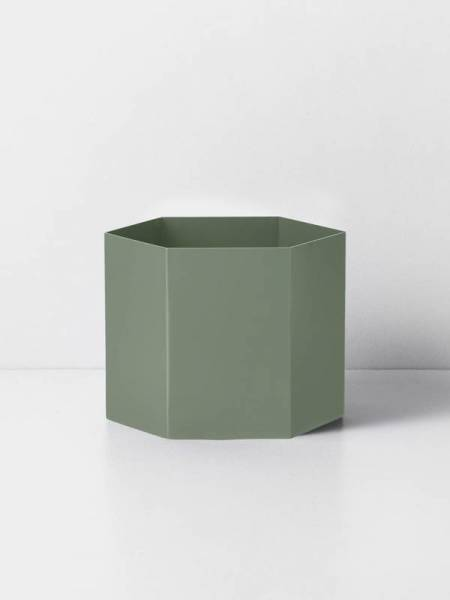 Übertopf Hexagon Pot - Dusty Green - Extra Large