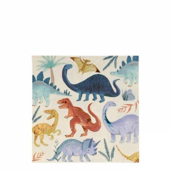 Dinosaurier Servietten gross - 16,5cm x 16,5cm