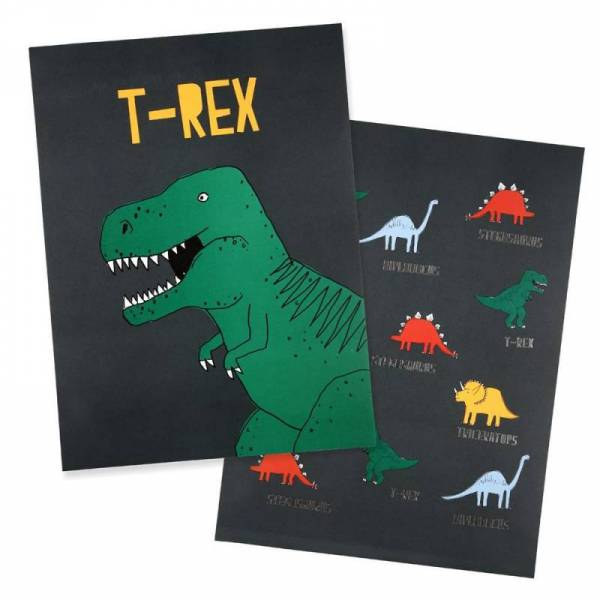 Dinosaur Poster - 2er Set 30x40 cm