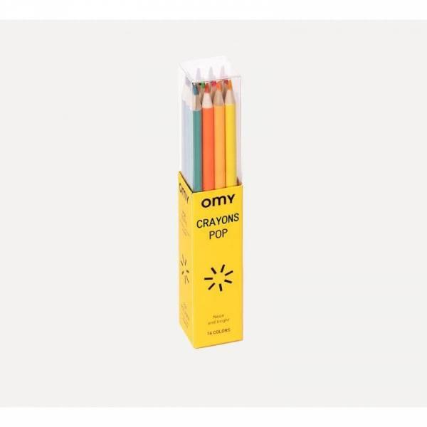 16 Buntstifte - neon und leuchtend