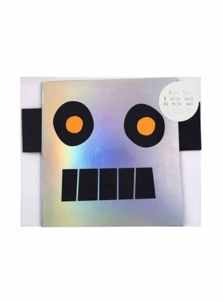 Roboter Malbuch mit Sticker
