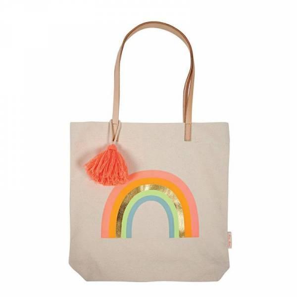Canvas Rainbow Tote Bag