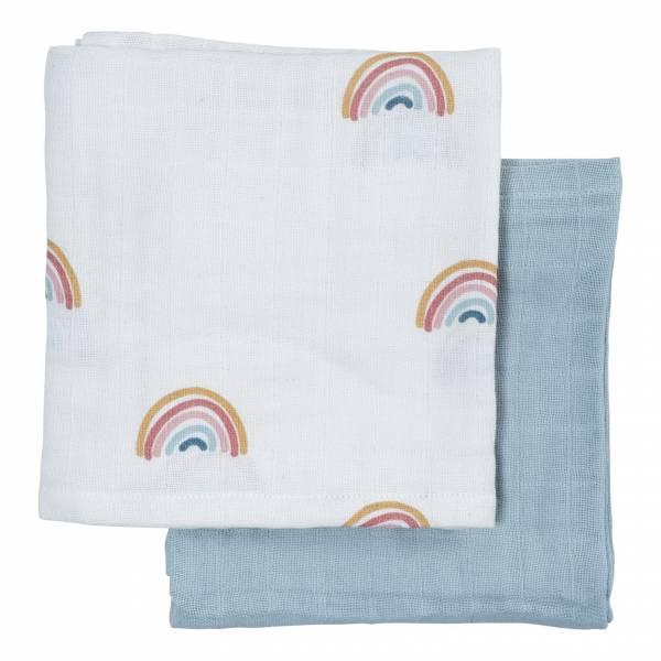 Musselintuch Rainbow 2er Pack