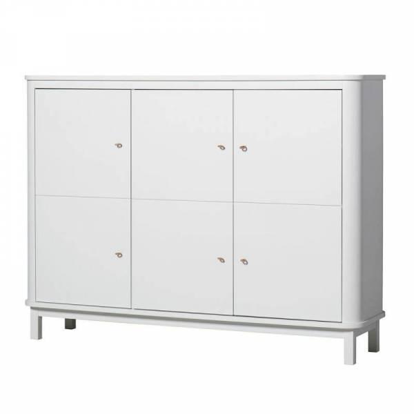 Wood Multi-Schrank 3-türig, weiß