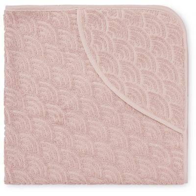 Babyhandtuch mit Kapuze - 80x80cm - Blossom Pink