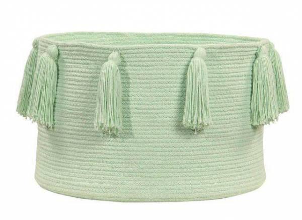 Korb - Basket Tassels - mint