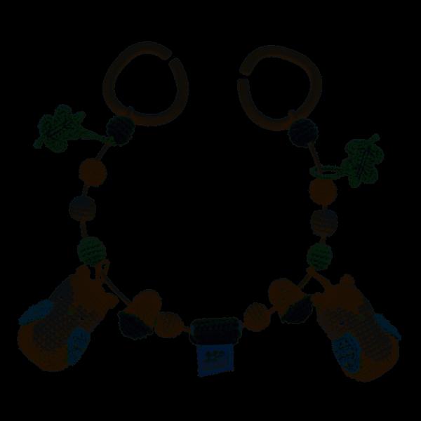 Häkel-Kinderwagenkette - Blinky die Eule