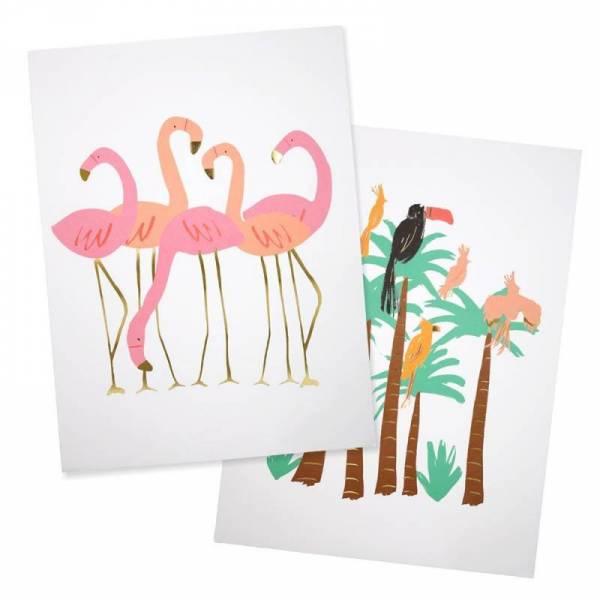 Flamingo Poster - 2er Set 30x40cm