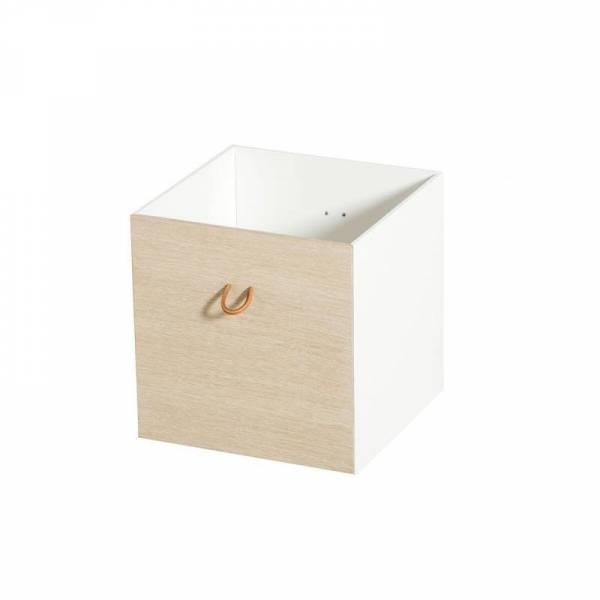 Wood Kisten weiß /Eiche, 2 Stück