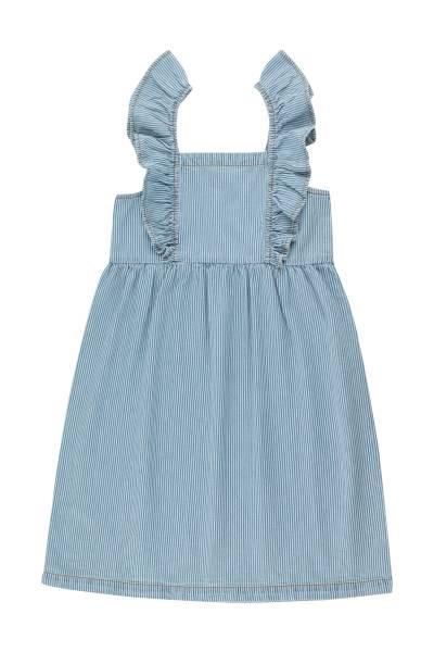 Kleid Striped Denim Frills