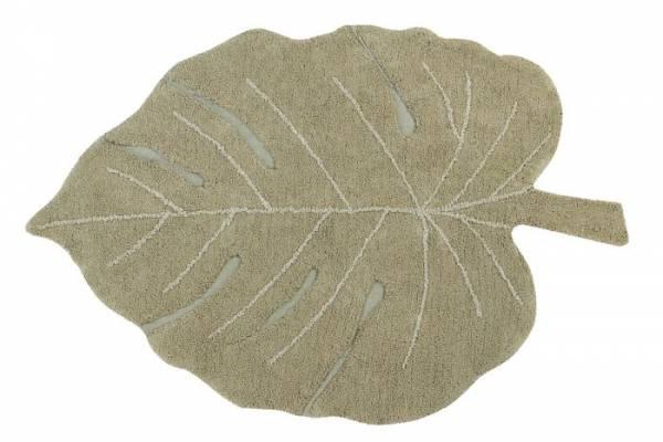 Teppich - Monstera Blatt - 120x180cm - oliv
