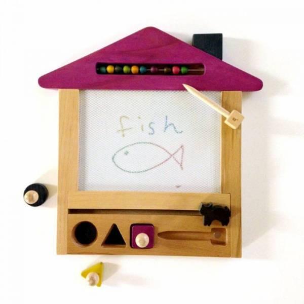 Oekaki House Cat - Magnetschreibtafel Pink