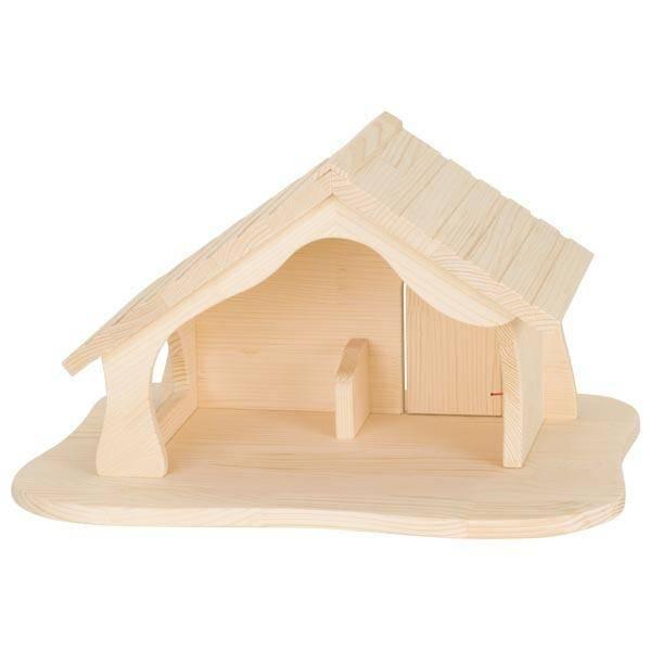 Holzkrippe Puppenhaus Bauernhof Stall