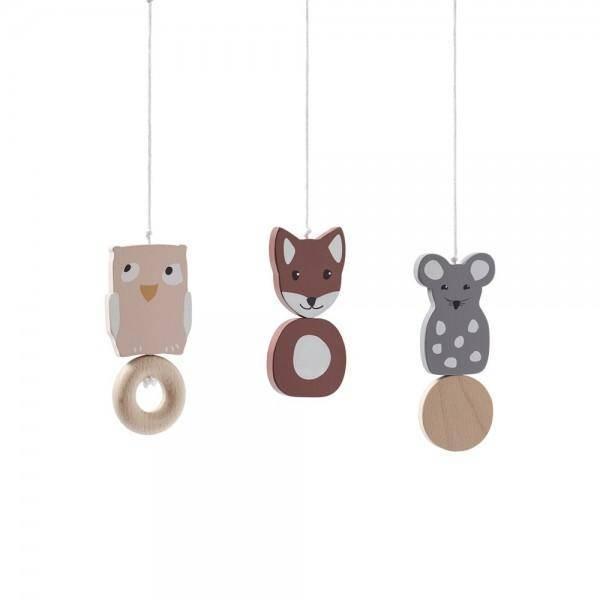 Edvin Babygymfiguren aus Holz für Spielbogen