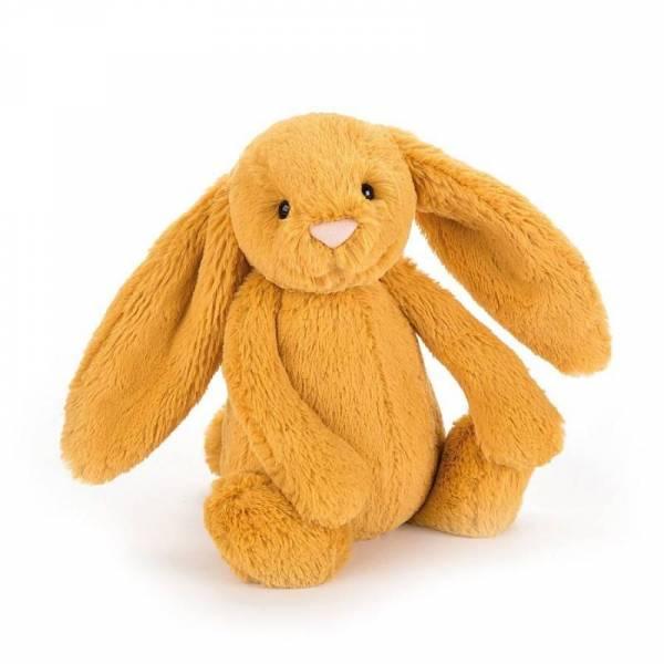 Stofftier Hase Bashful Bunny Saffron Medium - H 31cm - senfgelb