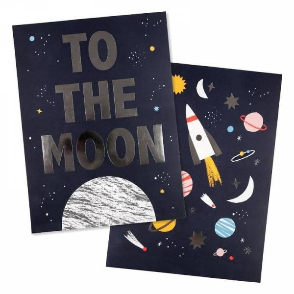 Space Poster - 2er Set 30x40cm