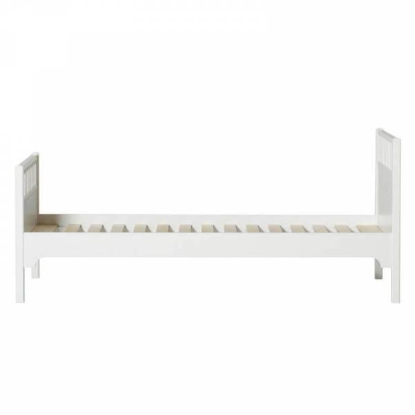 Seaside Einzelbett 90x200 cm, weiß