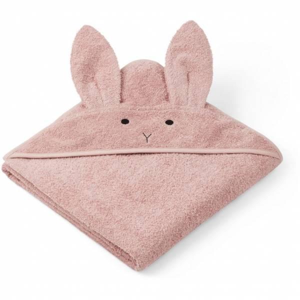 Kapuzenhandtuch Junior Rabbit Rose 100x100cm